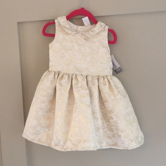 carters gold christmas dress 24 month